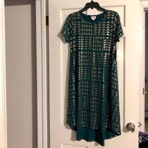 Lularoe Green and gold Dress size S